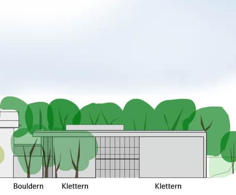 Die geplante Boulderhalle