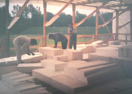 Entstehung Kletter Freianlage, Vorsprünge und Überhänge in Styropor