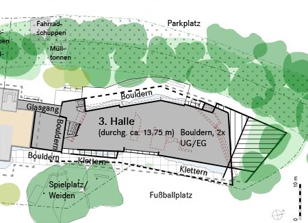 Geplante Aussenanlage Grundriss
