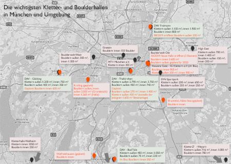 Kletter-und Boulderhallen im Raum München