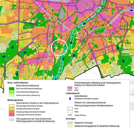 Freifläche von bioklimatisch sehr hoher Bedeutung