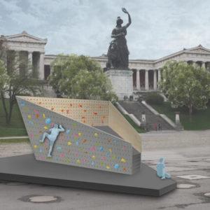 Spendenaufruf für die Boulderwand Dicker Hans auf der Theresienwiese