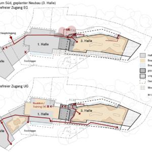 Geplanter Neubau, barrierefreier Zugang